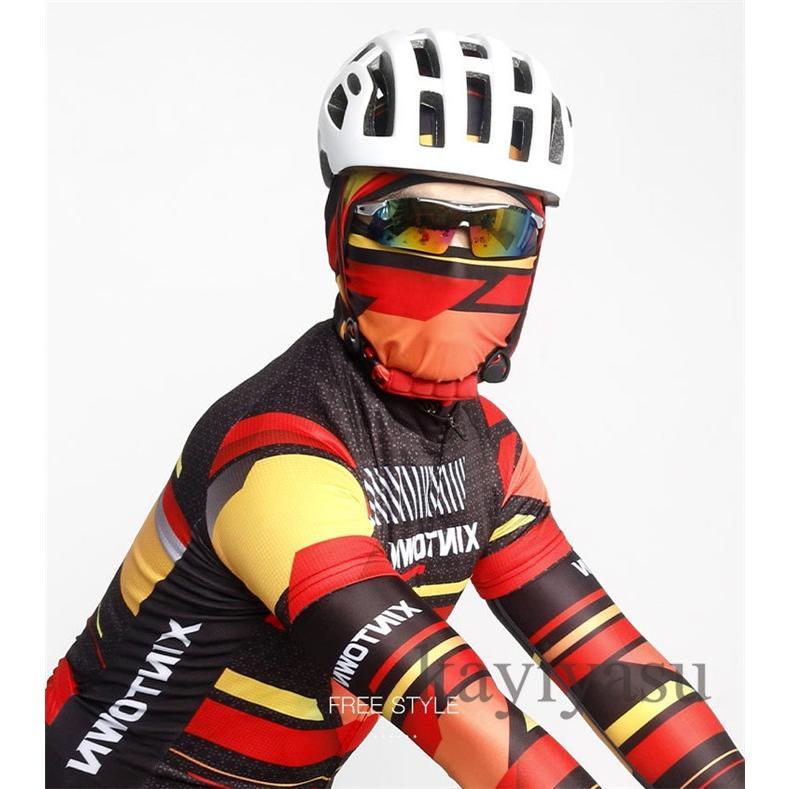 バラクラバ フェイスマスク フェイスカバー 目出し帽 フェイスガード UV ネックガード ネックウォーマー ネックスカーフ 自転車用 防風 防寒 防塵|niltutyuu|17