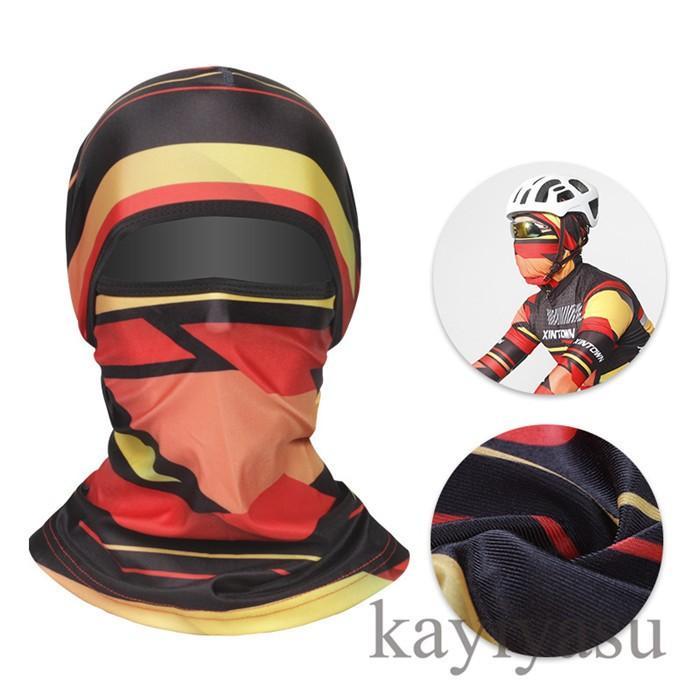バラクラバ フェイスマスク フェイスカバー 目出し帽 フェイスガード UV ネックガード ネックウォーマー ネックスカーフ 自転車用 防風 防寒 防塵|niltutyuu|04