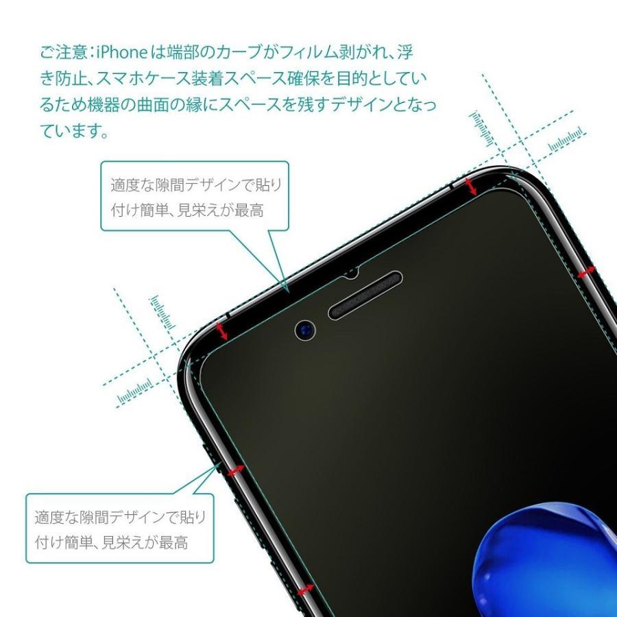 ブルーライトカット iPhone 8  iPhone  7Xガラスフィルム  強化ガラス液晶保護フィルム 保護シート 指紋防止 Nimaso|nimaso|05