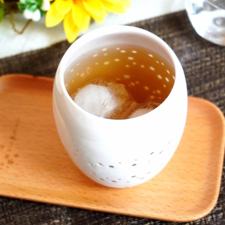 樽型タンブラー 300ml しずく彫り 泡沫-utakata- 陶磁器 コップ フリーカップ グラス 食器 インテリア お祝い 贈り物 プレゼント|nimei8111|02