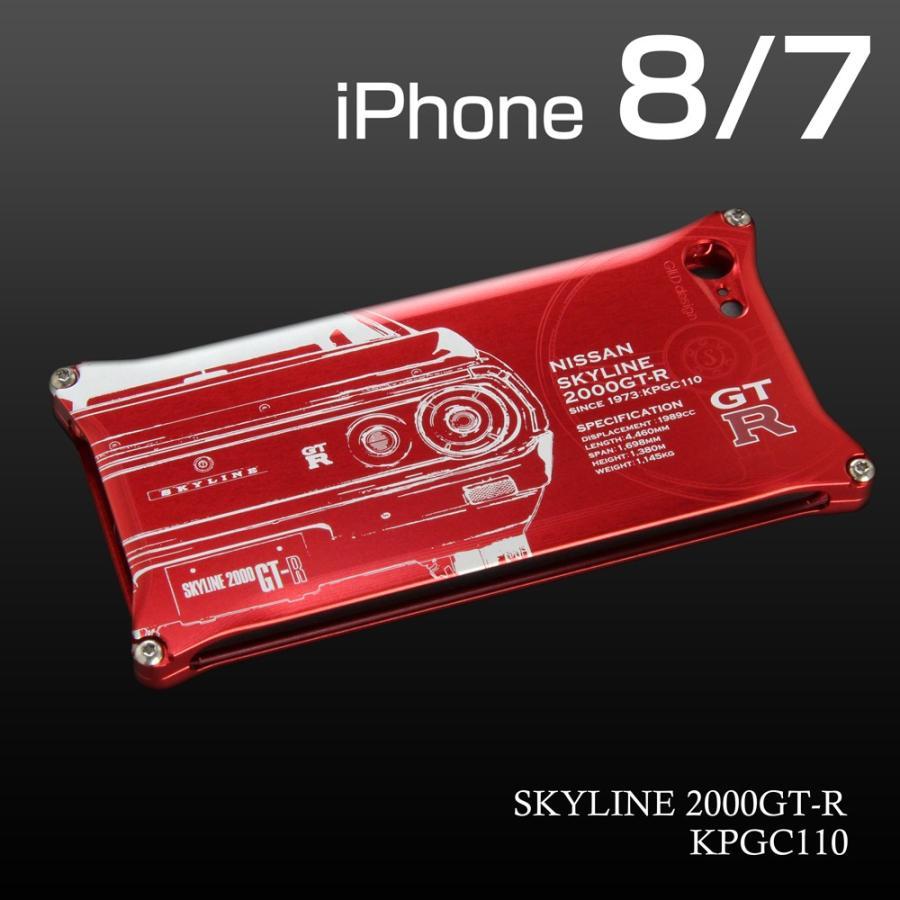日産(NISSAN) GTR for ケンメリ ジュラルミンiPhoneケース [7,8対応] nimitts