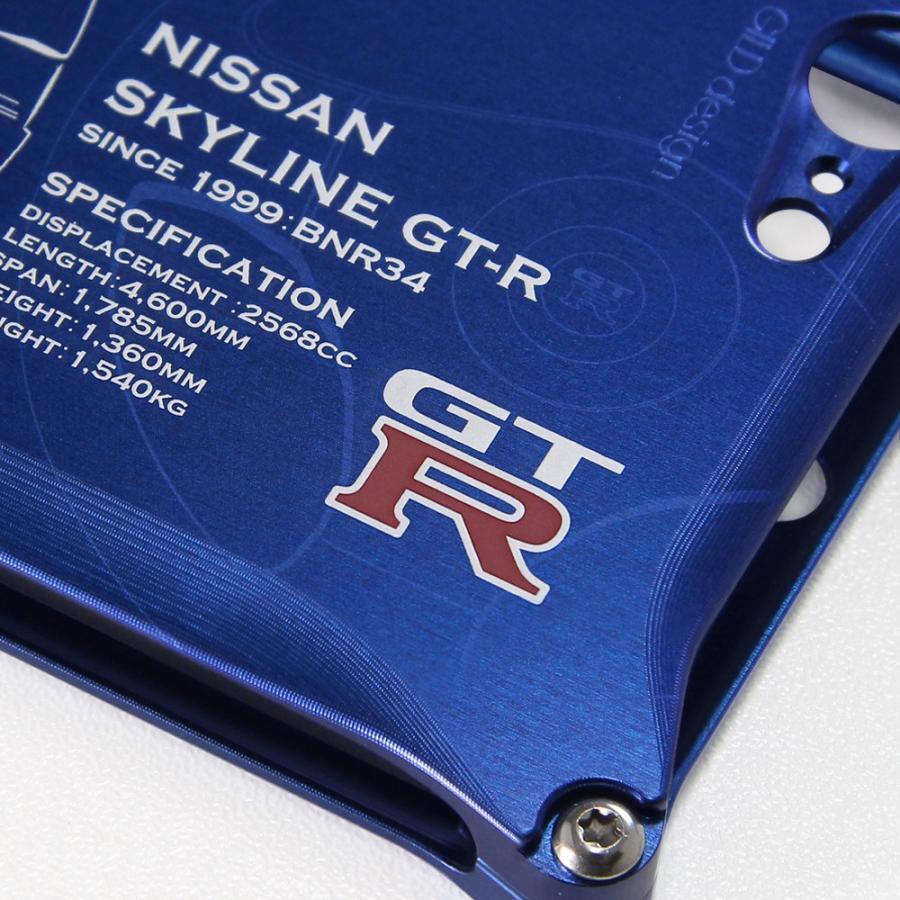 日産(NISSAN) GTR for R34 ジュラルミンiPhoneケース [7,8,7plus,8plus対応]|nimitts|03