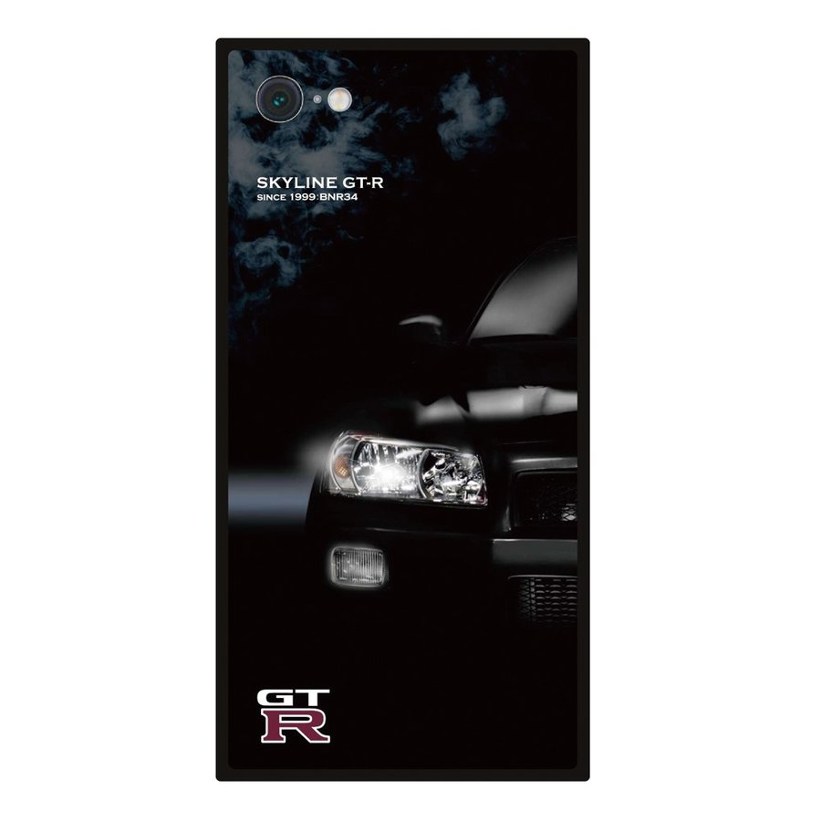 GT-R スクエア型iPhoneケース for BNR34 [iPhoneX/XS,7/8/SE2対応]|nimitts