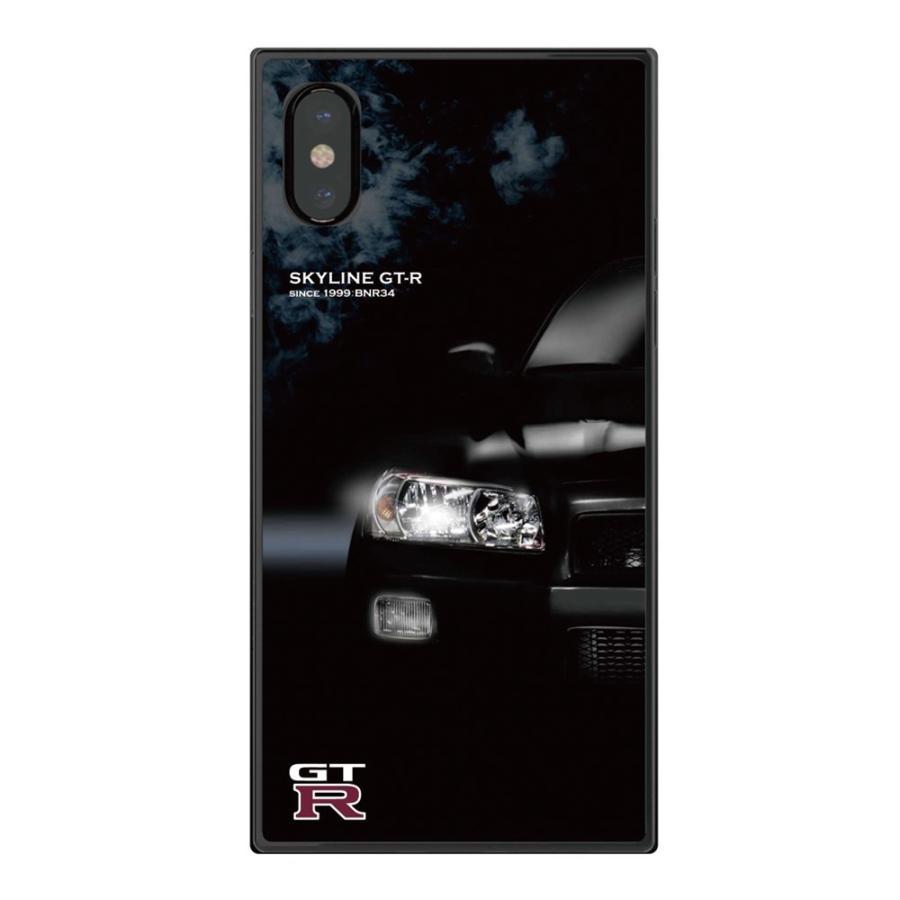 GT-R スクエア型iPhoneケース for BNR34 [iPhoneX/XS,7/8/SE2対応]|nimitts|02
