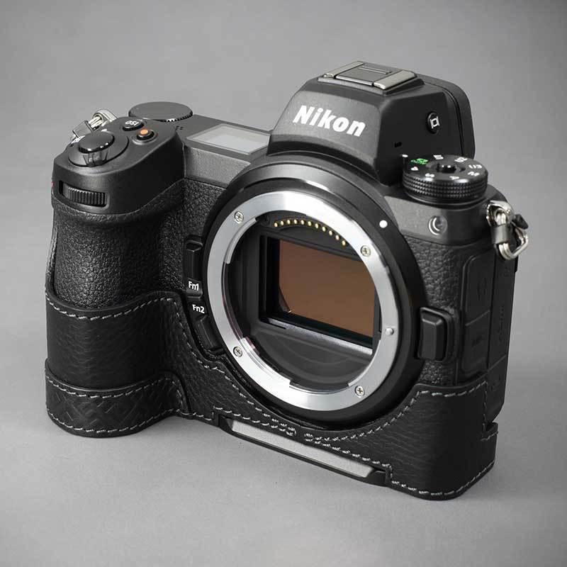 LIM'S Nikon Z7II Z6II 専用 イタリアンレザー カメラケース Black メタルプレート 本革 おしゃれ ケース NK-Z72BK リムズ 日本正規販売店 nineselect