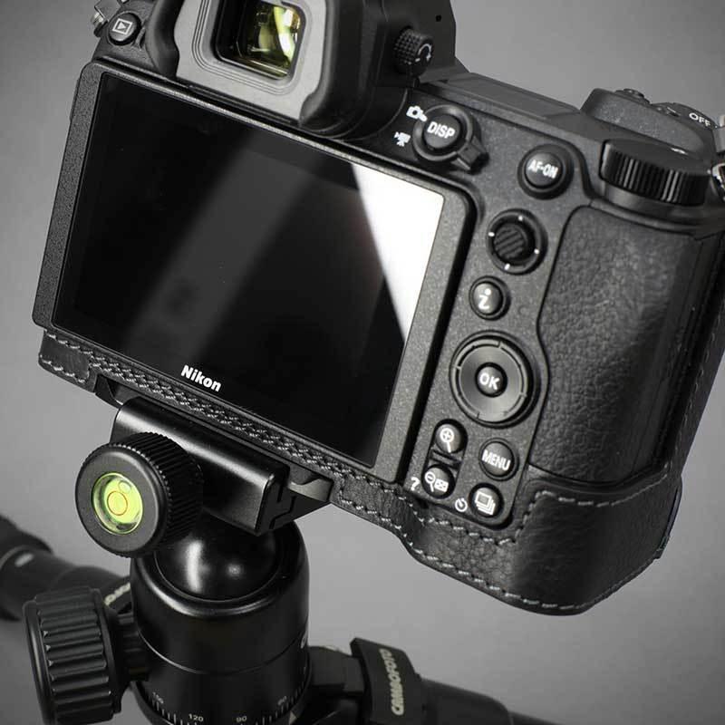 LIM'S Nikon Z7II Z6II 専用 イタリアンレザー カメラケース Black メタルプレート 本革 おしゃれ ケース NK-Z72BK リムズ 日本正規販売店 nineselect 11