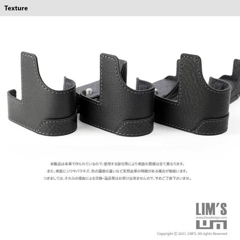 LIM'S Nikon Z7II Z6II 専用 イタリアンレザー カメラケース Black メタルプレート 本革 おしゃれ ケース NK-Z72BK リムズ 日本正規販売店 nineselect 14