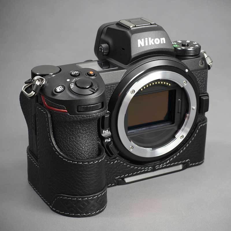 LIM'S Nikon Z7II Z6II 専用 イタリアンレザー カメラケース Black メタルプレート 本革 おしゃれ ケース NK-Z72BK リムズ 日本正規販売店 nineselect 04