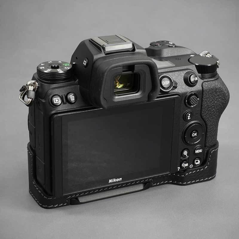 LIM'S Nikon Z7II Z6II 専用 イタリアンレザー カメラケース Black メタルプレート 本革 おしゃれ ケース NK-Z72BK リムズ 日本正規販売店 nineselect 05