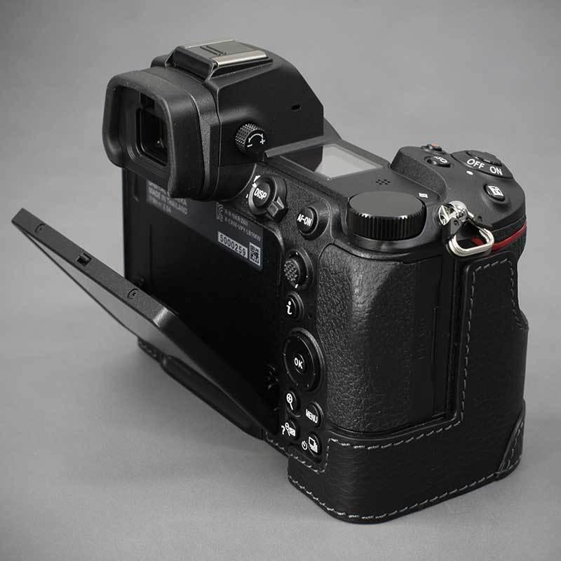 LIM'S Nikon Z7II Z6II 専用 イタリアンレザー カメラケース Black メタルプレート 本革 おしゃれ ケース NK-Z72BK リムズ 日本正規販売店 nineselect 06