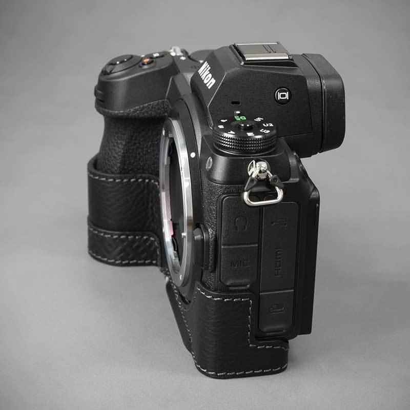 LIM'S Nikon Z7II Z6II 専用 イタリアンレザー カメラケース Black メタルプレート 本革 おしゃれ ケース NK-Z72BK リムズ 日本正規販売店 nineselect 07