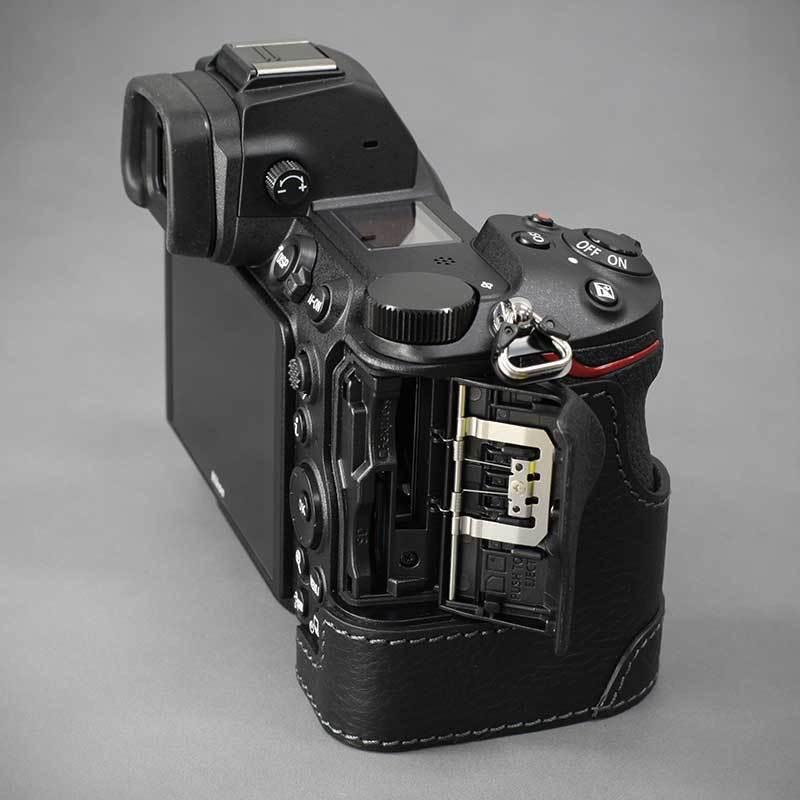 LIM'S Nikon Z7II Z6II 専用 イタリアンレザー カメラケース Black メタルプレート 本革 おしゃれ ケース NK-Z72BK リムズ 日本正規販売店 nineselect 08