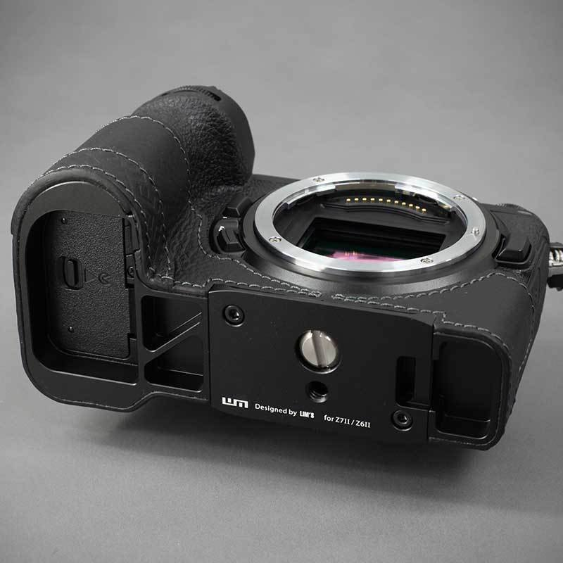 LIM'S Nikon Z7II Z6II 専用 イタリアンレザー カメラケース Black メタルプレート 本革 おしゃれ ケース NK-Z72BK リムズ 日本正規販売店 nineselect 09