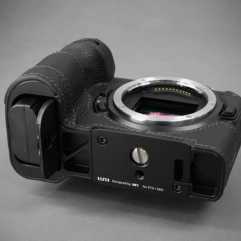 LIM'S Nikon Z7II Z6II 専用 イタリアンレザー カメラケース Black メタルプレート 本革 おしゃれ ケース NK-Z72BK リムズ 日本正規販売店 nineselect 10