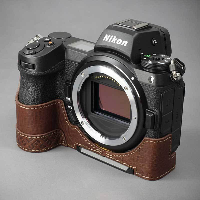 LIM'S Nikon Z7II Z6II 専用 イタリアンレザー カメラケース Brown メタルプレート 本革 おしゃれ ケース NK-Z72BR リムズ 日本正規販売店|nineselect