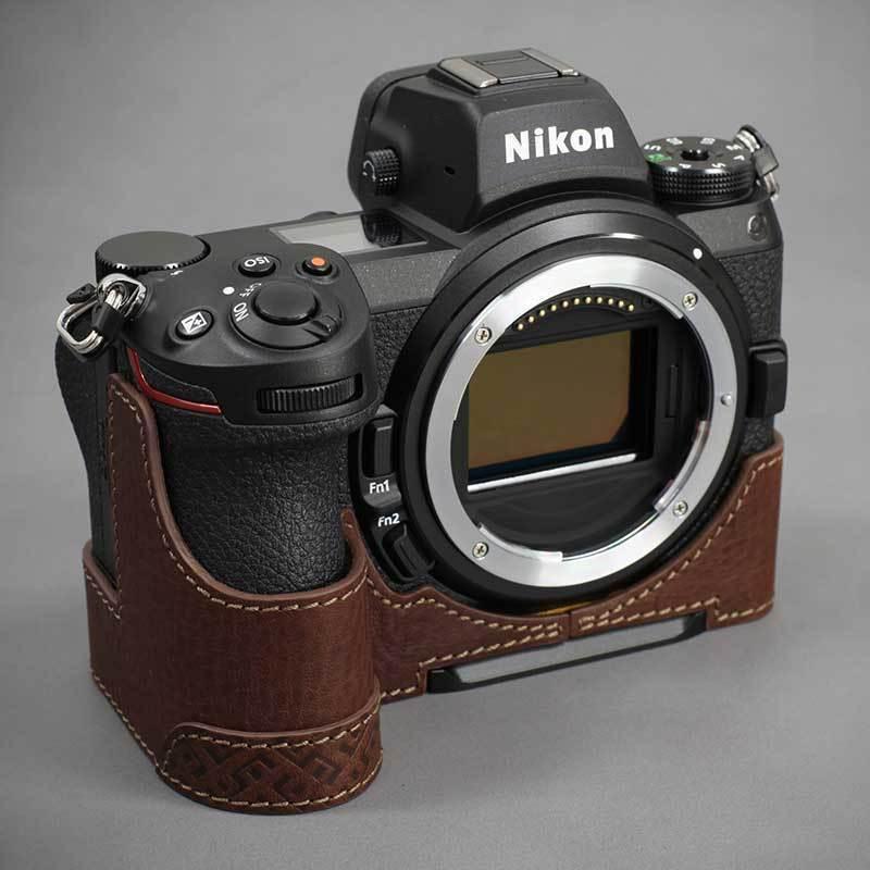 LIM'S Nikon Z7II Z6II 専用 イタリアンレザー カメラケース Brown メタルプレート 本革 おしゃれ ケース NK-Z72BR リムズ 日本正規販売店|nineselect|04