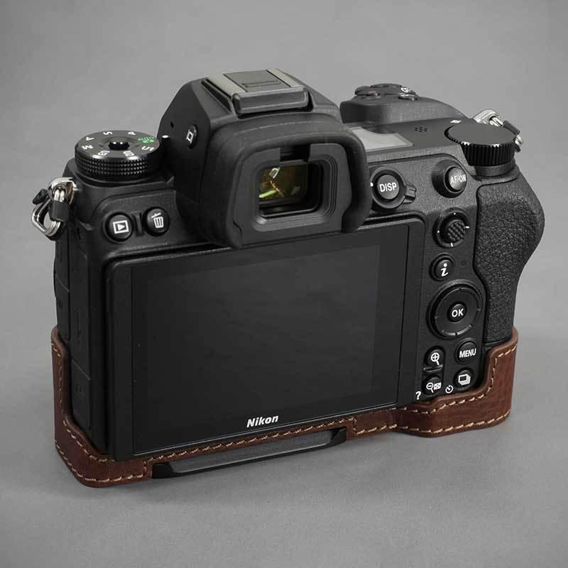 LIM'S Nikon Z7II Z6II 専用 イタリアンレザー カメラケース Brown メタルプレート 本革 おしゃれ ケース NK-Z72BR リムズ 日本正規販売店|nineselect|05