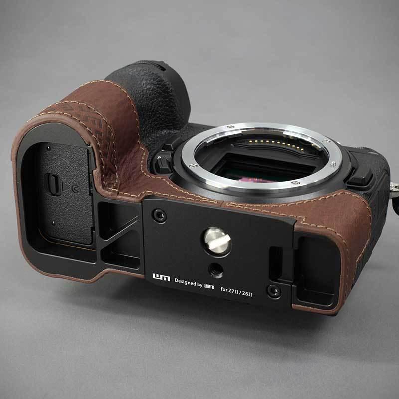 LIM'S Nikon Z7II Z6II 専用 イタリアンレザー カメラケース Brown メタルプレート 本革 おしゃれ ケース NK-Z72BR リムズ 日本正規販売店|nineselect|09