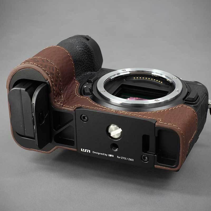 LIM'S Nikon Z7II Z6II 専用 イタリアンレザー カメラケース Brown メタルプレート 本革 おしゃれ ケース NK-Z72BR リムズ 日本正規販売店|nineselect|10