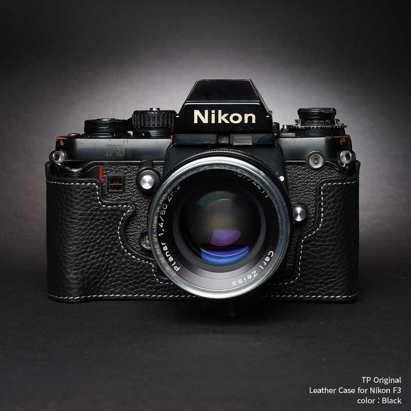 TP Original Nikon F3 専用 レザー カメラケース Black ブラック おしゃれ 速写ケース TB05F3-BK|nineselect