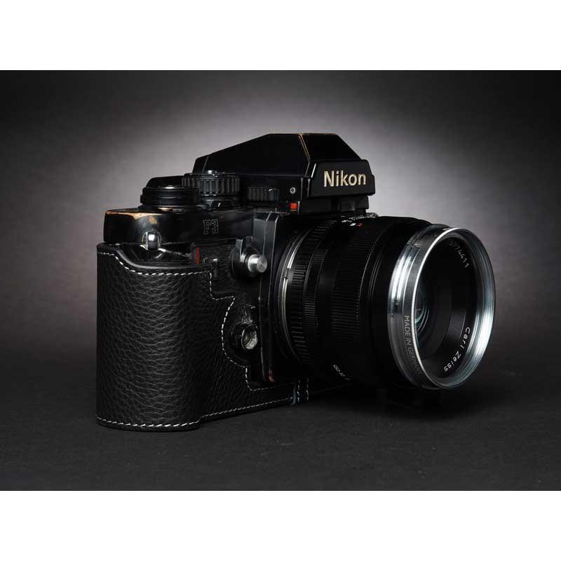 TP Original Nikon F3 専用 レザー カメラケース Black ブラック おしゃれ 速写ケース TB05F3-BK|nineselect|02
