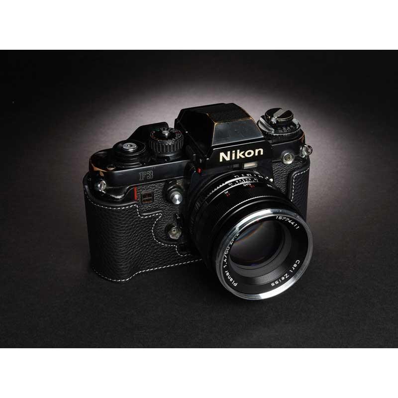 TP Original Nikon F3 専用 レザー カメラケース Black ブラック おしゃれ 速写ケース TB05F3-BK|nineselect|03