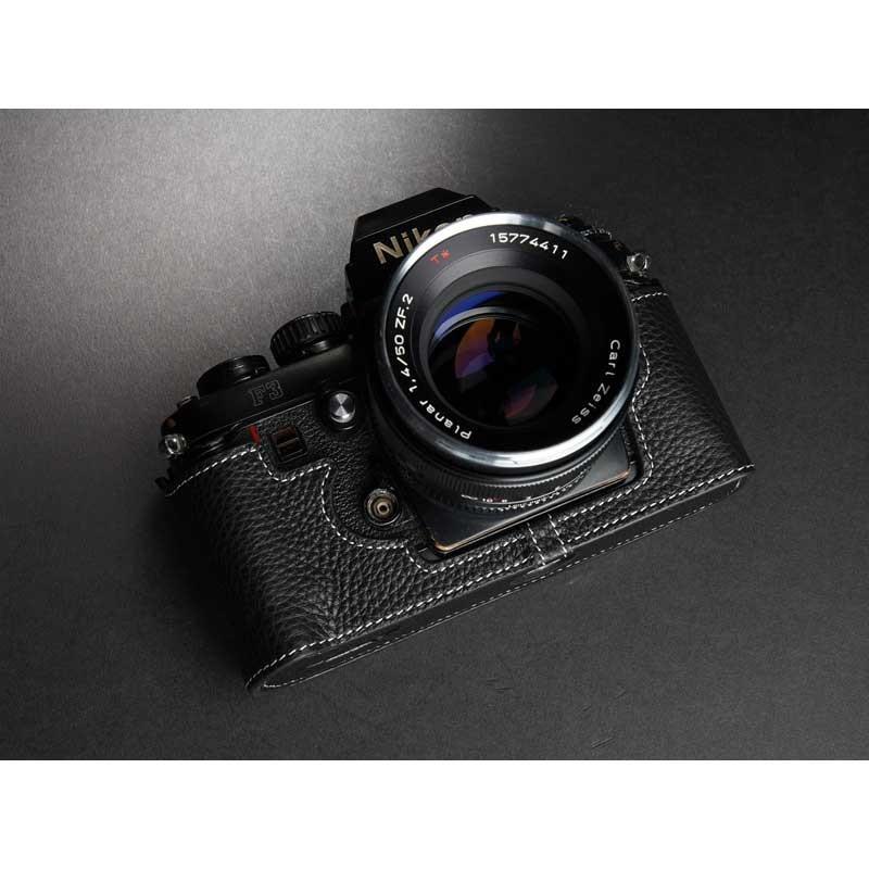 TP Original Nikon F3 専用 レザー カメラケース Black ブラック おしゃれ 速写ケース TB05F3-BK|nineselect|04