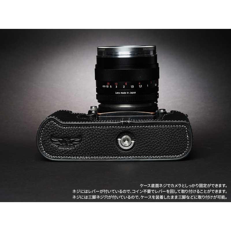TP Original Nikon F3 専用 レザー カメラケース Black ブラック おしゃれ 速写ケース TB05F3-BK|nineselect|06