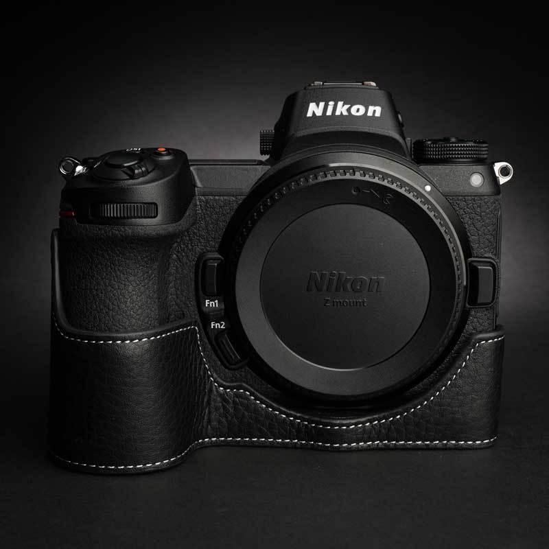 TP Original Nikon Z5 / Z6 / Z7 / Z6II / Z7II 専用 レザー カメラケース Black おしゃれ 速写ケース TB06Z5-BK|nineselect