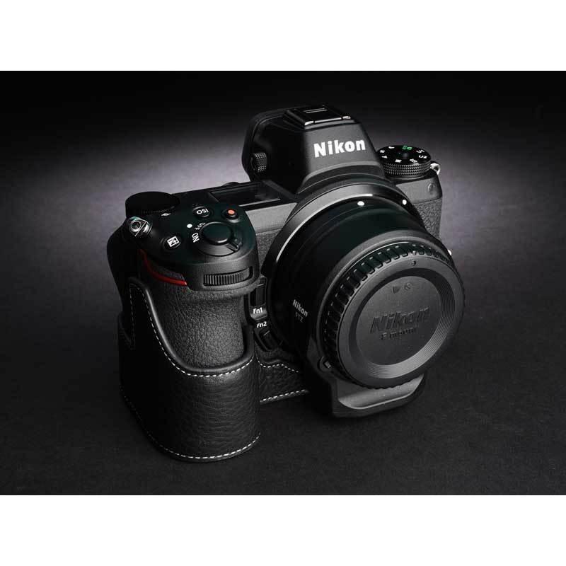 TP Original Nikon Z5 / Z6 / Z7 / Z6II / Z7II 専用 レザー カメラケース Black おしゃれ 速写ケース TB06Z5-BK|nineselect|02