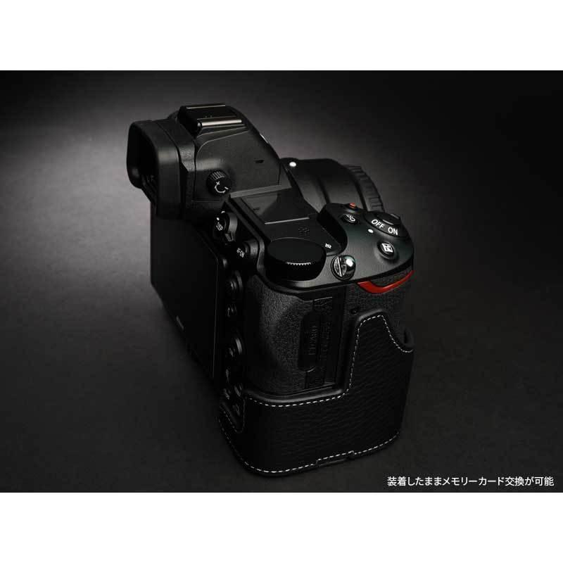 TP Original Nikon Z5 / Z6 / Z7 / Z6II / Z7II 専用 レザー カメラケース Black おしゃれ 速写ケース TB06Z5-BK|nineselect|04