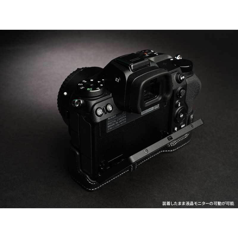 TP Original Nikon Z5 / Z6 / Z7 / Z6II / Z7II 専用 レザー カメラケース Black おしゃれ 速写ケース TB06Z5-BK|nineselect|06