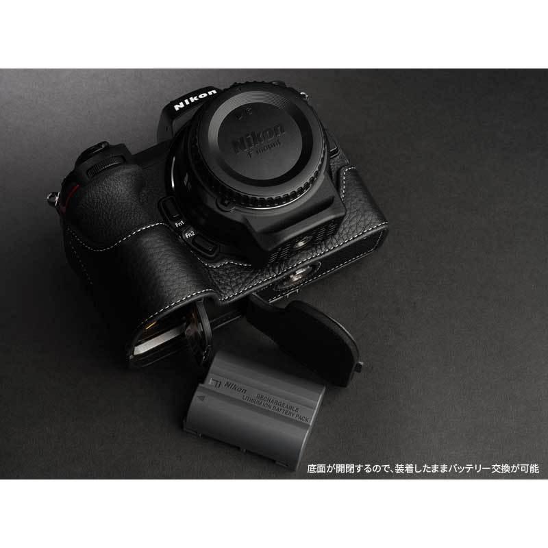 TP Original Nikon Z5 / Z6 / Z7 / Z6II / Z7II 専用 レザー カメラケース Black おしゃれ 速写ケース TB06Z5-BK|nineselect|08