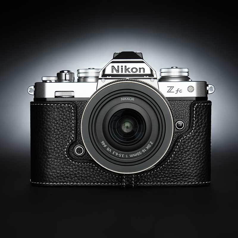 TP Original Nikon Zfc 専用 レザー カメラケース Black ブラック おしゃれ 本革 牛革 速写ケース TB06ZFC-BK nineselect