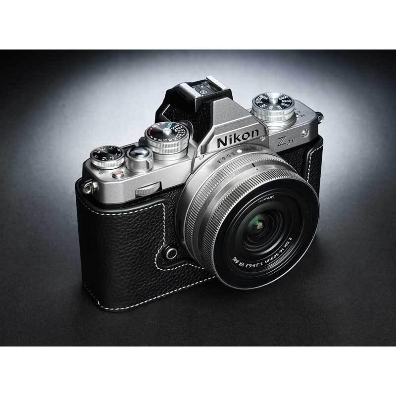 TP Original Nikon Zfc 専用 レザー カメラケース Black ブラック おしゃれ 本革 牛革 速写ケース TB06ZFC-BK nineselect 02