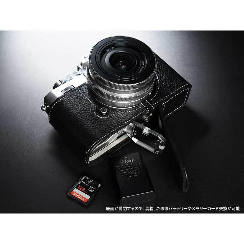 TP Original Nikon Zfc 専用 レザー カメラケース Black ブラック おしゃれ 本革 牛革 速写ケース TB06ZFC-BK nineselect 11