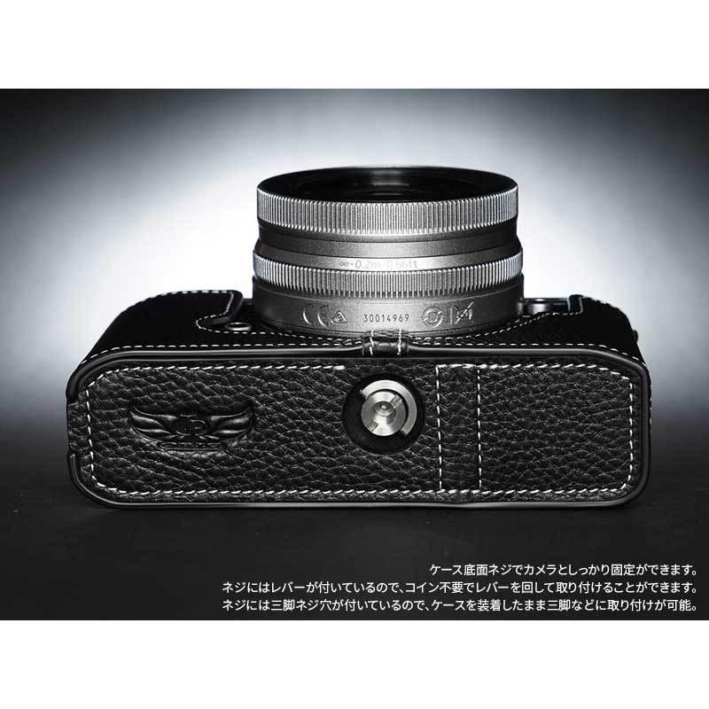 TP Original Nikon Zfc 専用 レザー カメラケース Black ブラック おしゃれ 本革 牛革 速写ケース TB06ZFC-BK nineselect 12