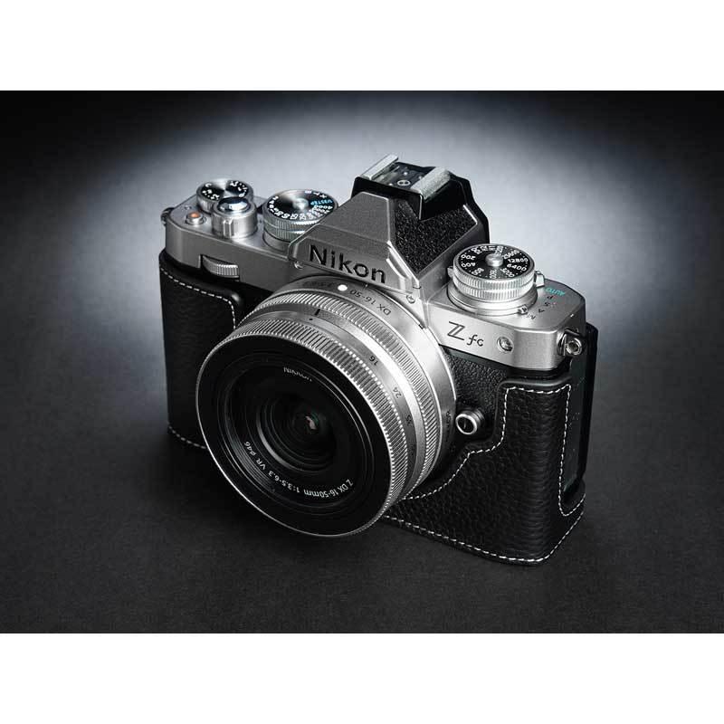 TP Original Nikon Zfc 専用 レザー カメラケース Black ブラック おしゃれ 本革 牛革 速写ケース TB06ZFC-BK nineselect 03