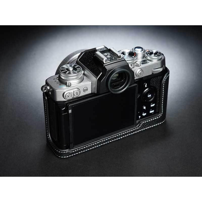 TP Original Nikon Zfc 専用 レザー カメラケース Black ブラック おしゃれ 本革 牛革 速写ケース TB06ZFC-BK nineselect 04