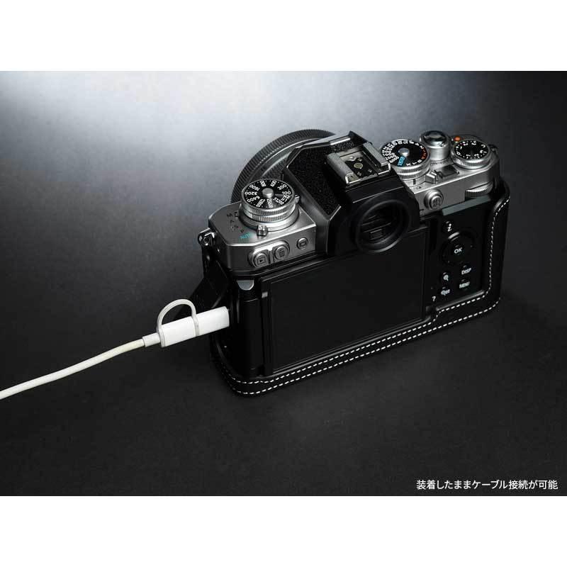 TP Original Nikon Zfc 専用 レザー カメラケース Black ブラック おしゃれ 本革 牛革 速写ケース TB06ZFC-BK nineselect 05