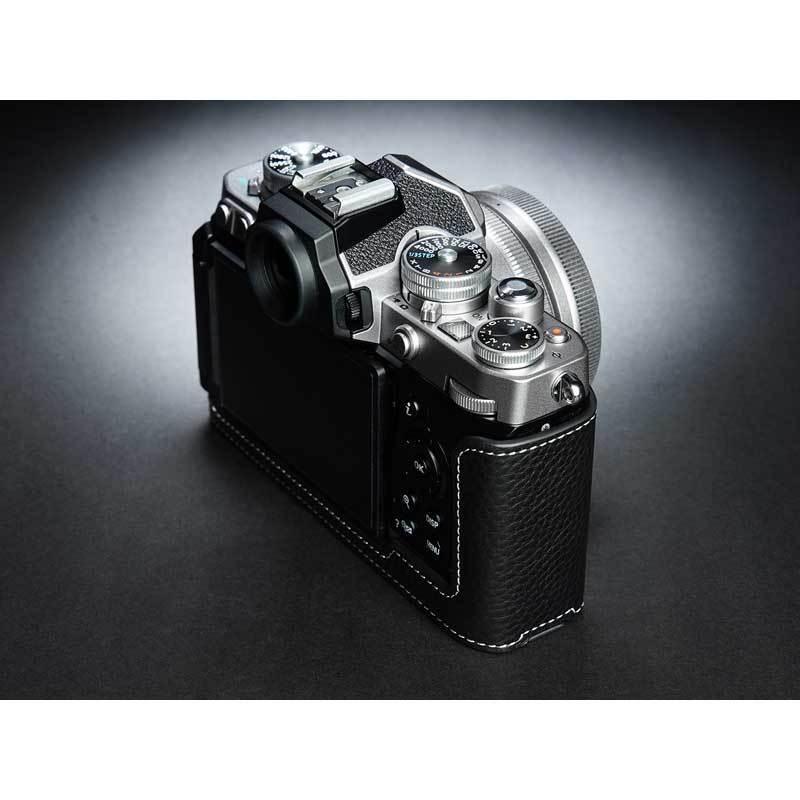 TP Original Nikon Zfc 専用 レザー カメラケース Black ブラック おしゃれ 本革 牛革 速写ケース TB06ZFC-BK nineselect 06