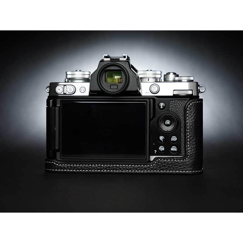 TP Original Nikon Zfc 専用 レザー カメラケース Black ブラック おしゃれ 本革 牛革 速写ケース TB06ZFC-BK nineselect 07
