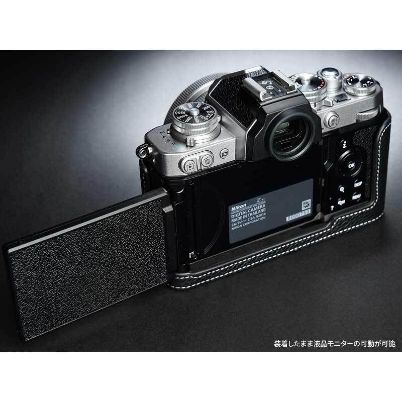 TP Original Nikon Zfc 専用 レザー カメラケース Black ブラック おしゃれ 本革 牛革 速写ケース TB06ZFC-BK nineselect 08
