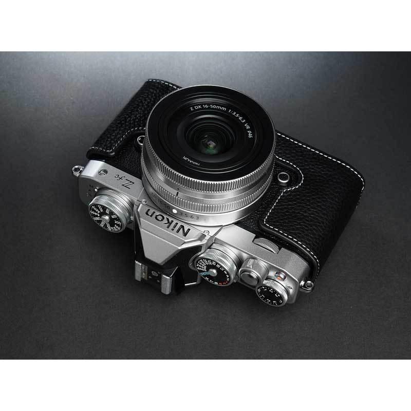 TP Original Nikon Zfc 専用 レザー カメラケース Black ブラック おしゃれ 本革 牛革 速写ケース TB06ZFC-BK nineselect 09