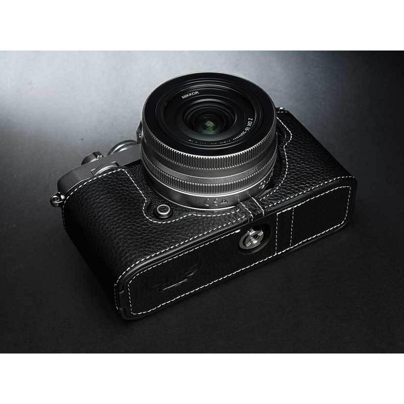 TP Original Nikon Zfc 専用 レザー カメラケース Black ブラック おしゃれ 本革 牛革 速写ケース TB06ZFC-BK nineselect 10