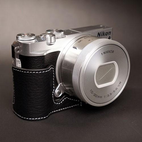 TP Original ティーピー オリジナル Leather Camera Body Case レザーケース for Nikon 1 J5 おしゃれ 本革 カメラケース Black(ブラック)|nineselect|02