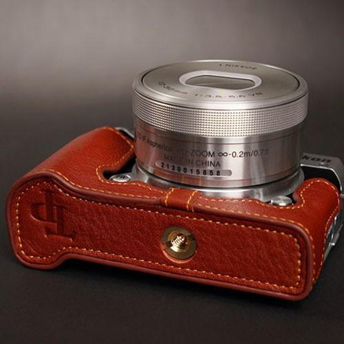 TP Original ティーピー オリジナル Leather Camera Body Case レザーケース for Nikon 1 J5 おしゃれ 本革 カメラケース Black(ブラック)|nineselect|03