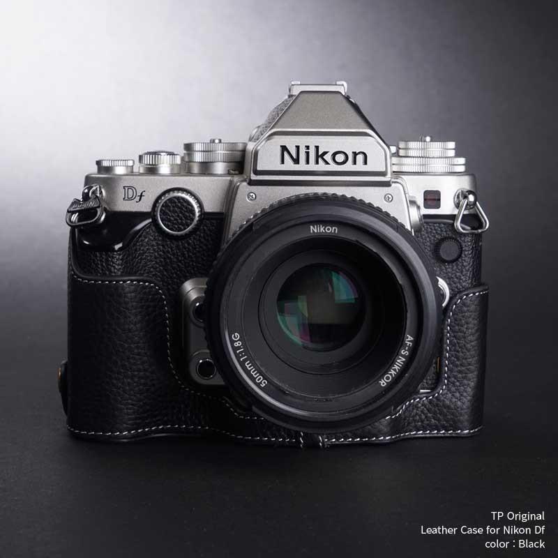 TP Original Nikon Df 専用 レザー カメラケース Black ブラック おしゃれ 速写ケース TB06DF-BK|nineselect