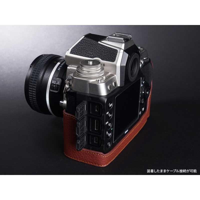 TP Original Nikon Df 専用 レザー カメラケース Black ブラック おしゃれ 速写ケース TB06DF-BK|nineselect|04
