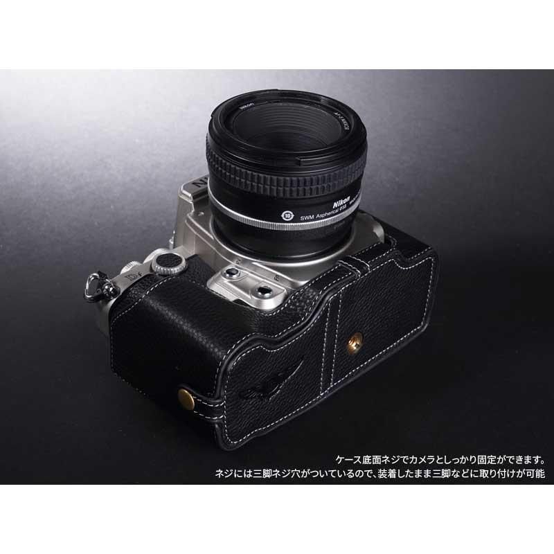 TP Original Nikon Df 専用 レザー カメラケース Black ブラック おしゃれ 速写ケース TB06DF-BK|nineselect|05